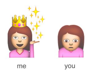 me, emoji, and you image