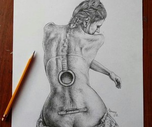 back, drawing, and strings image