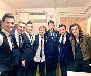 Harry Styles, one direction, and ed sheeran image
