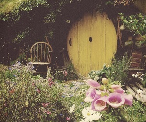 flowers, hobbit, and house image