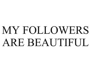 followers and beautiful image