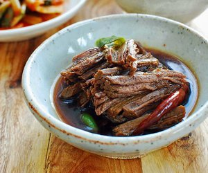 beef, korean, and meat image