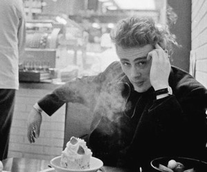 james dean and smoke image