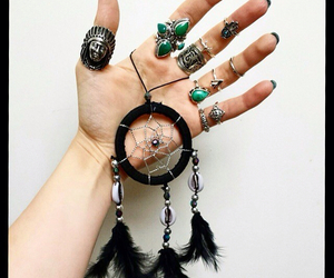 rings, hamsa, and turquoise image