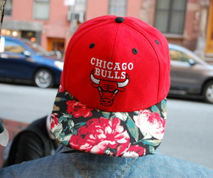 flowers, red, and swag image