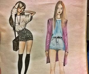 croquis, desenho, and draw image