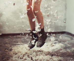 feather, jump, and boots image