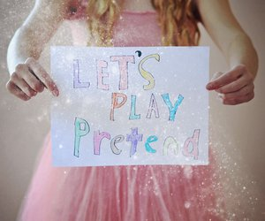 pink, pretend, and glitter image