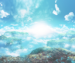 clouds, anime, and nature image