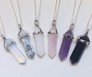 crystals, necklaces, and want image