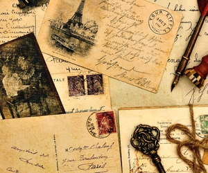 vintage, letters, and key image