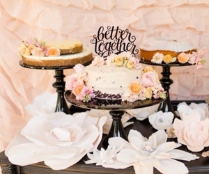 cake, sweets, and wedding image