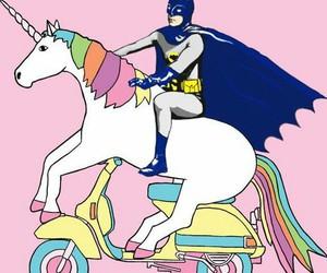 unicorn, batman, and pink image