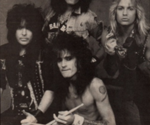 80s, black and white, and motley crue image
