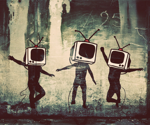 art, tv, and BANKSY image
