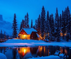 beach, beautiful, and cabin image