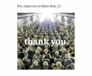 soldiers, foreal, and thank you image