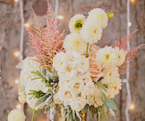 decoration, white, and flowers image