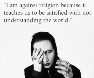 black and white, manson, and Marilyn Manson image