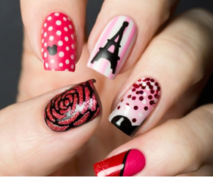 nail art, pink, and nails image