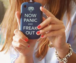 girl, nails, and panic image