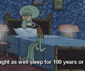 sleep, spongebob, and squidward image