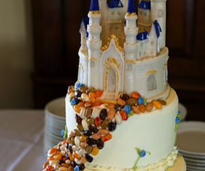 castle, disney, and cake image