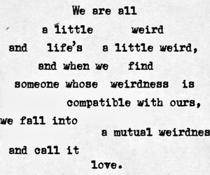 couple, weird, and love image
