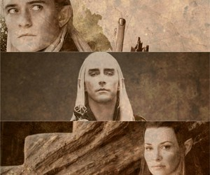 evangeline lilly, lee pace, and Legolas image