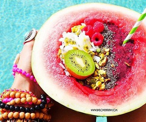 banana, healthy, and watermelon image