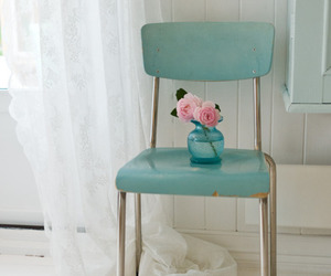 vintage, blue, and chair image