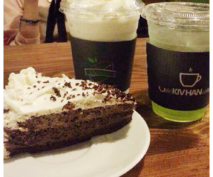 cafe, cake, and drinks image