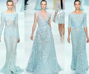 blue, wedding dress, and frozen image
