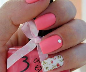 nail art, pink, and white image