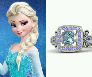 frozen, ring, and elsa image