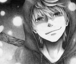 jack frost, anime, and black and white image