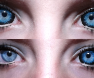 ageha, blue contacts, and blue eyes image