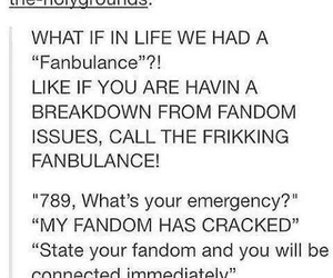 help, fandoms, and fangirling image