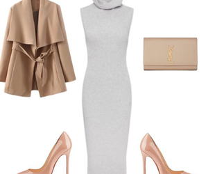 chic, clutch bag, and coat image
