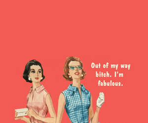 bitch, fabulous, and quote image