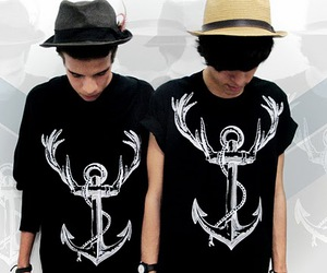 anchor, anchor and deer, and guys image