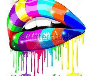lips, bluedarkart designer, and lipstick image