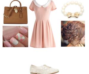 bag, dress, and girly image