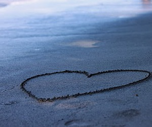heart, lovely, and sand image