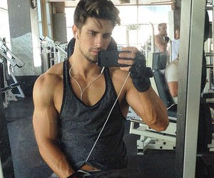 Hot, gym, and man image