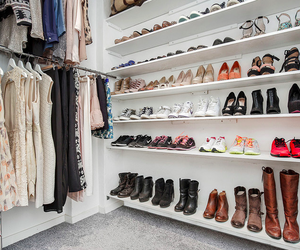 clothes, fashion, and walk in closet image