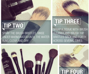 cleaning, makeup brushes, and makeup tools image