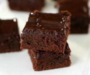 brownies, ganache, and chocolate image