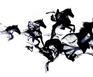 horse, art, and black image