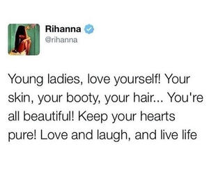 rihanna, lady, and quote image